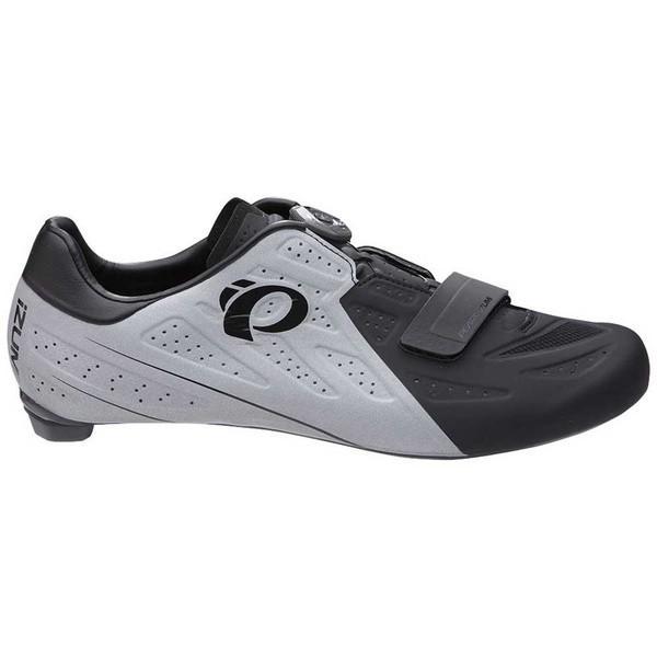 パールイズミ シューズ メンズ サイクリング Pearl izumi Elite V5 黒 / 銀 Reflective