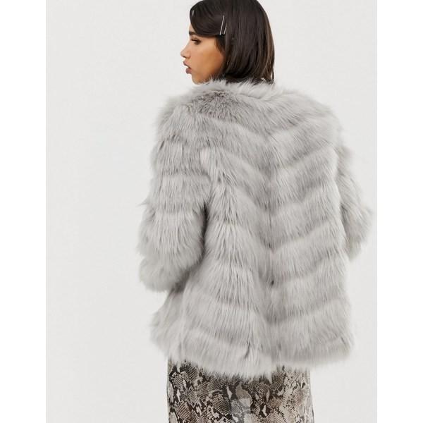 手数料安い リバーアイランド レディース コート アウター River Island faux fur paneled jacket Gray, MARK DOYLE 8e0ef49c