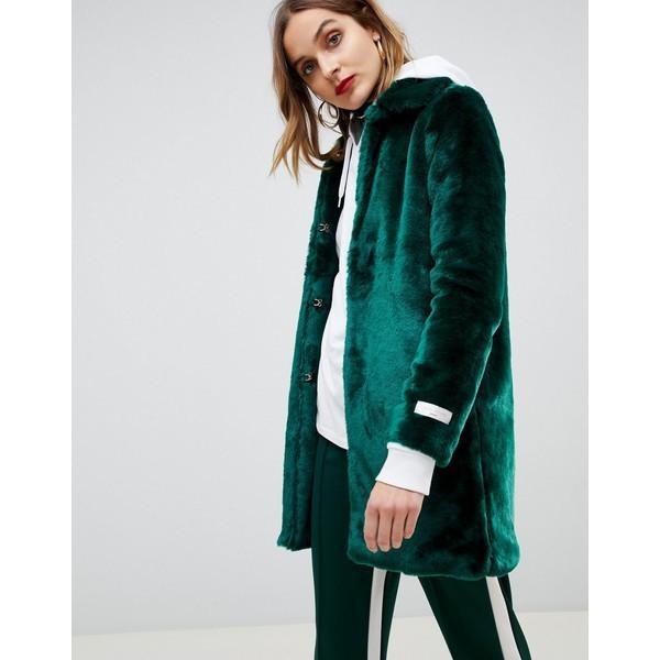 激安先着 ジアーフラウド レディース コート アウター Gianni Feraud faux fur coat Emerald green, カーペット ラグ 絨毯 なかね家具 f675177b