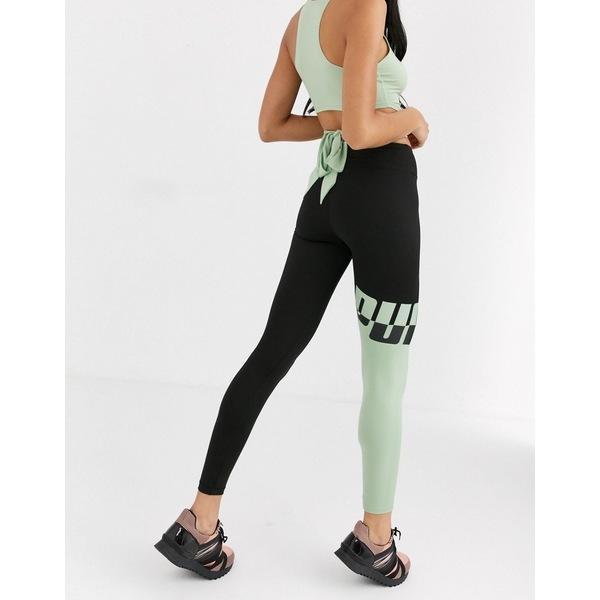 【レビューで送料無料】 プーマ レディース カジュアルパンツ ボトムス Puma exclusive to ASOS all me logo leggings in green Green, Adria Trade 55df0397