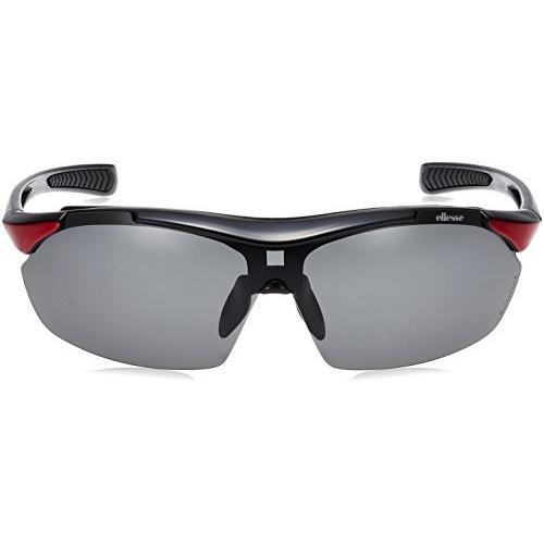 【送料無料】ellesse(エレッセ) 度付き対応 スポーツサングラス ES-S108 ブラック/レッド【在庫限り】