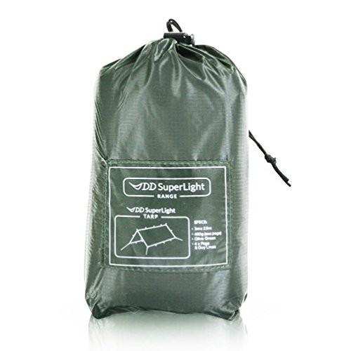【送料無料】DD SuperLight Tarp スーパーライト タープ (Olive 緑) 軽量でコンパクト ハンモックシェルターにも最適