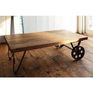 テーブル ローテーブル おすすめ ヴィンテージデザインリビング家具シリーズ ローテーブル W110 W110 トロリーテーブル 送料無料