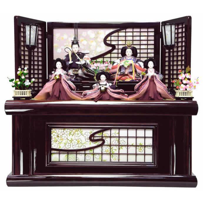 雛人形 ひな人形 雛 収納飾り 五人飾り 御雛 h243-aki-s-no8