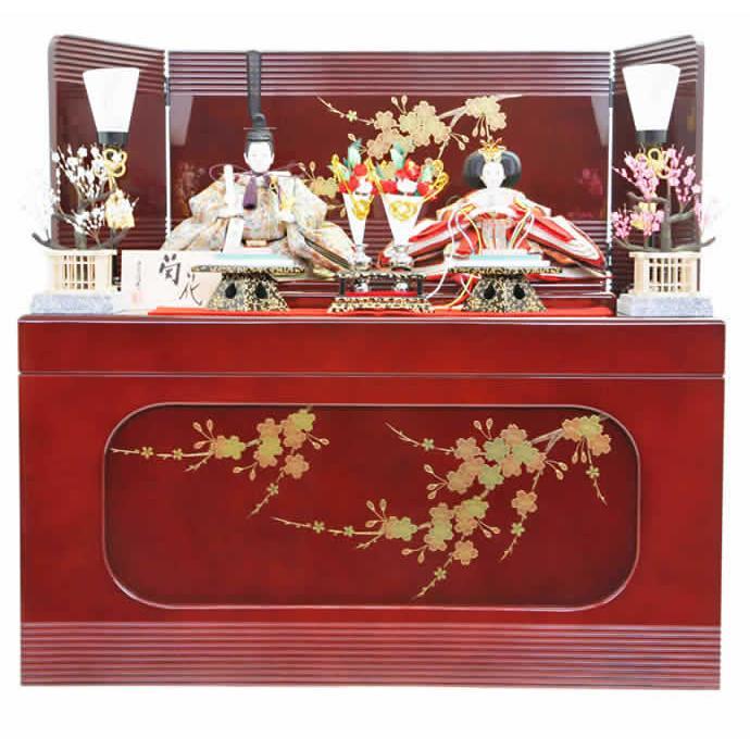 雛人形 ひな人形 雛 収納飾り 親王飾り 平安優香作 菊花 h243-fz-40ss1176
