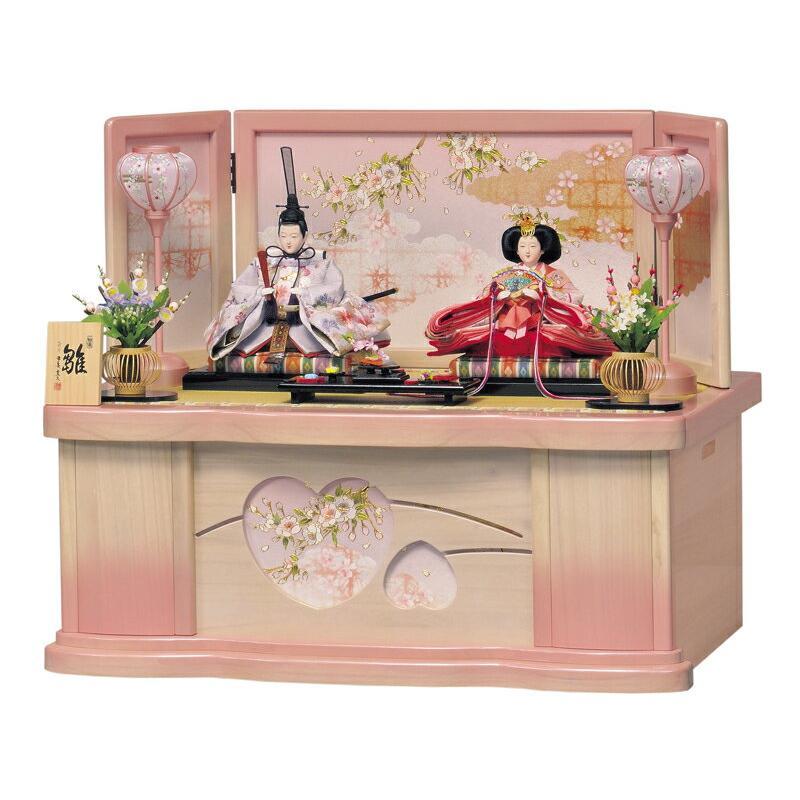 雛人形 ひな人形 雛 収納飾り 親王飾り 平安豊久作 みはる 三五親王揃 h253-mo-304573