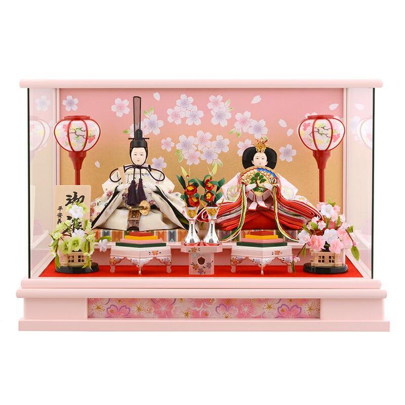 雛人形 ひな人形 雛 ケース飾り 親王飾り 平安義正作 御雛 胡蝶 h263-moys-009
