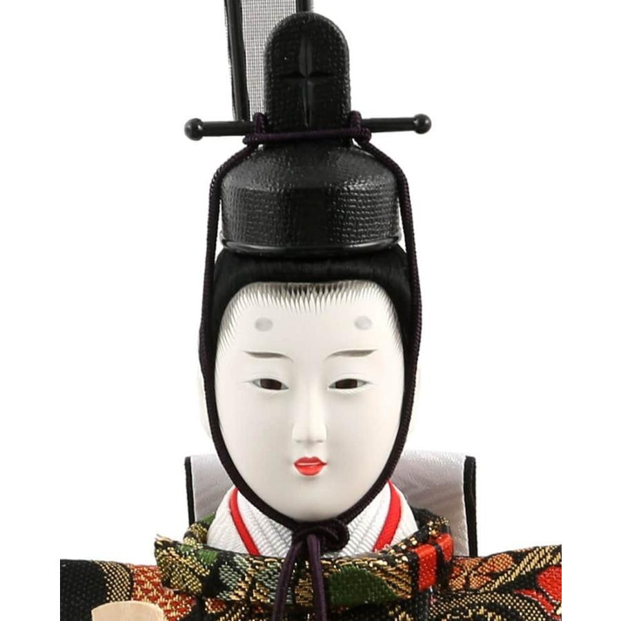 雛人形 コンパクト ひな人形 雛 ケース飾り 五人飾り 藤翁作 美咲 三五芥子五人 金襴仕立 六角アクリルケース オルゴール付 h033-fn-193-525|asutsuku-ningyoya|04