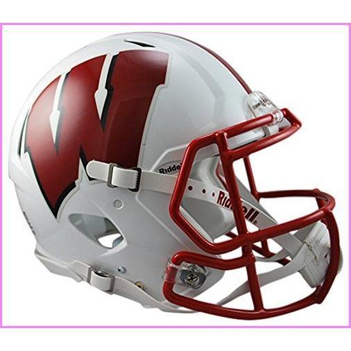 Riddell Sports NCAA Wisconsin Badgers Speed Authentic Helmet, White【並行輸入品】