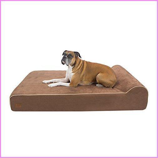 【送料無料】FrontPet Lux Orthopedic Dog Bed/Premium Memory Foam Dog Bed with Removable Microfiber Machine Washable Slipcover- XL【並