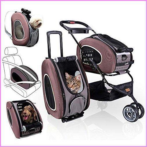 【送料無料】5-in-1 Pet Carrier with Backpack, Car Seat, Pet Carrier Stroller, Shoulder Strap, Carriers with Wheels for Dogs and Cats -