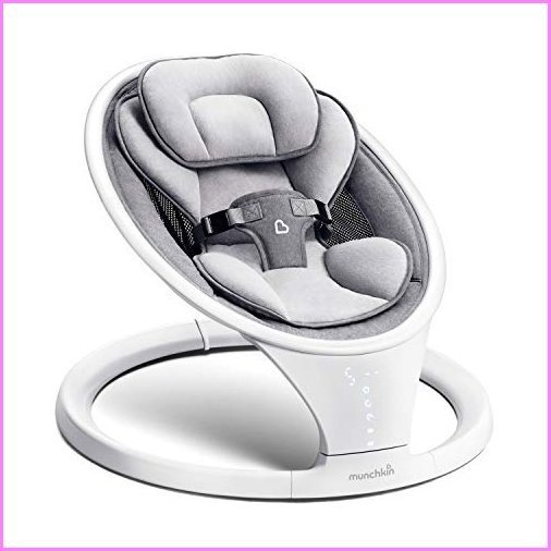 Munchkin Bluetooth Enabled Lightweight Baby Swing with Natural Sway in 5 Speeds and Remote Control【並行輸入品】