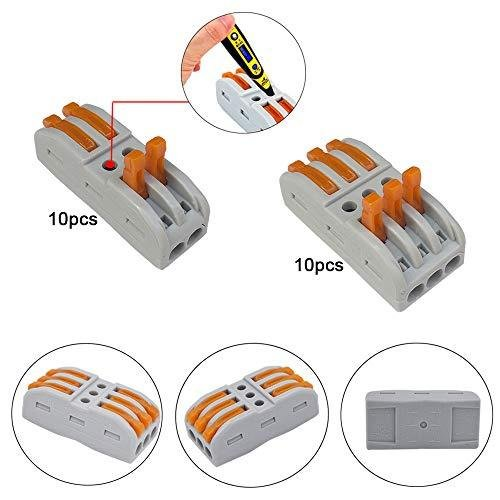 FULARRR 120個 プレミアム プレミアム レバーナットワイヤコネクタキット、導体コンパクトワイヤコネクタ、ワンタッチコネクター (PCT-21|atdesign|02