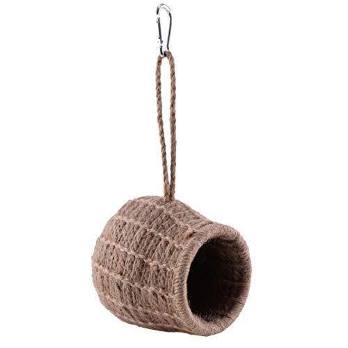 ledmomo ハムスター ハウス 吊り下げ 小鳥巣箱 コットンロープ織り 鳥かご バードケージ バードルーム 寝床 インコ 文鳥 リス|atdesign