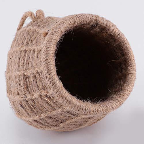 ledmomo ハムスター ハウス 吊り下げ 小鳥巣箱 コットンロープ織り 鳥かご バードケージ バードルーム 寝床 インコ 文鳥 リス|atdesign|02