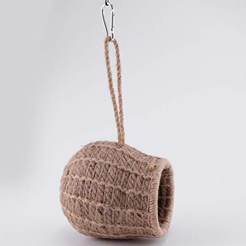 ledmomo ハムスター ハウス 吊り下げ 小鳥巣箱 コットンロープ織り 鳥かご バードケージ バードルーム 寝床 インコ 文鳥 リス|atdesign|05