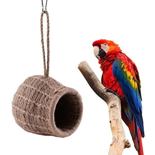 ledmomo ハムスター ハウス 吊り下げ 小鳥巣箱 コットンロープ織り 鳥かご バードケージ バードルーム 寝床 インコ 文鳥 リス|atdesign|07