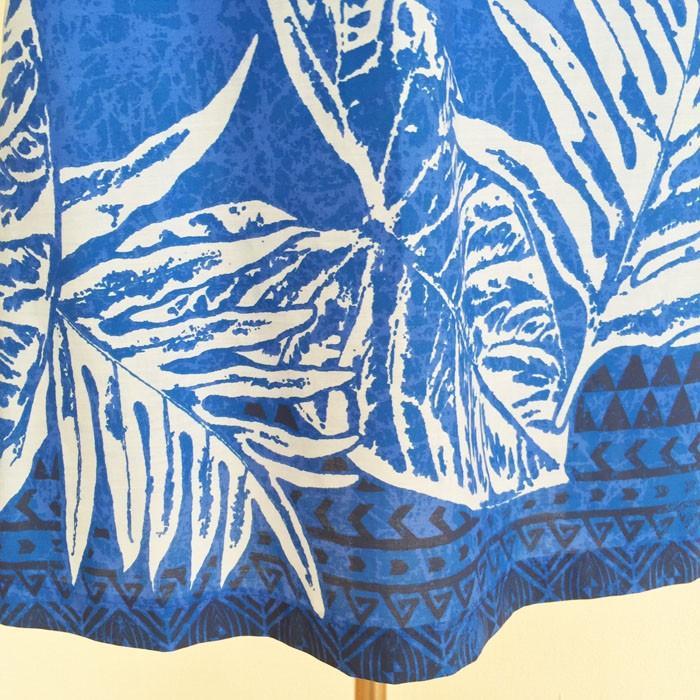 キャミソール ワンピース ドレス ホヌ & タパ柄〈ブルー〉 送料無料 クリックポスト ハワイアン ファブリック Made in JAPAN 日本製|atelier-ayumi|04