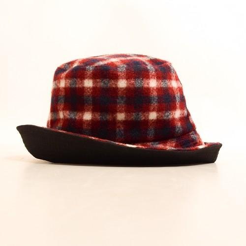タータン チェック ボア リバーシブル バケット ハット 〈ワイン キャメル〉綿100% レディース帽子 メンズ帽子 送料無料 Fillil フィリル 森ガール 山ガールに atelier-ayumi 02