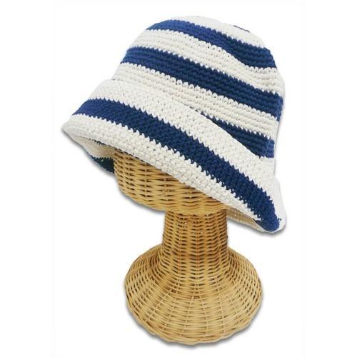 コットン ボーダー クロッシェ 〈 レッド 〉57.5cm ニット帽 コットン100% 送料無料 メール便 〈メンズ〉〈レディース帽子〉|atelier-ayumi|02