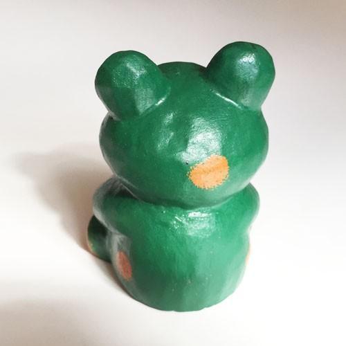 ほっこりかわいい アニマル カレンダー〈 カエル 〉 木彫り オブジェ アジアン雑貨 インドネシア バリ 蛙 かえる ケロ|atelier-ayumi|03