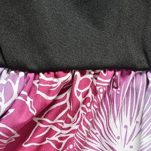 ティアードデザイン フラドレス レフアレイ グラデーション 〈パープル〉 ムームー 送料無料  ハワイアン フラダンス 練習 発表会に マイレ チューベローズ柄 atelier-ayumi 07