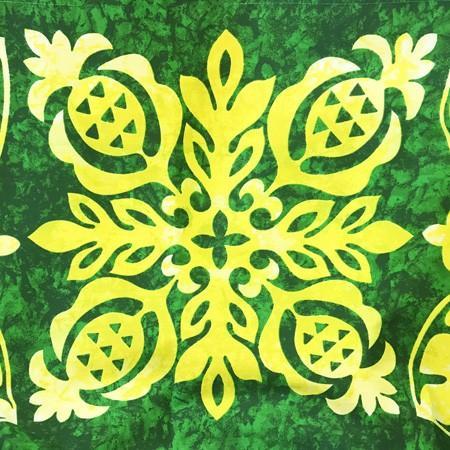パウスカート ハワイアン キルト グラデーション 72cm 〈 グリーン イエロー 〉 むら染め 送料無料 4本ゴム フラダンス 衣装 日本製  パイナップル ライム|atelier-ayumi|03
