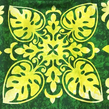 パウスカート ハワイアン キルト グラデーション 72cm 〈 グリーン イエロー 〉 むら染め 送料無料 4本ゴム フラダンス 衣装 日本製  パイナップル ライム|atelier-ayumi|04