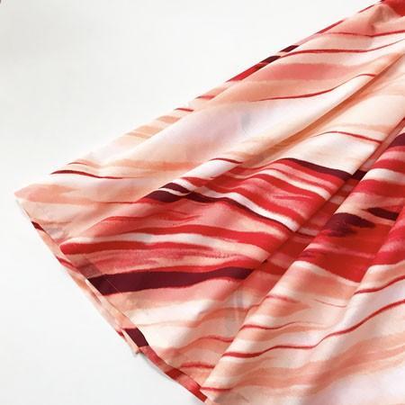 パウスカート 67cm 72cm ナルー スパイラル〈レッド&ナチュラル〉流線型  送料無料 ハワイアン フラダンス 衣装 斜め柄 日本製 4本ゴム ハンドメイド|atelier-ayumi|02