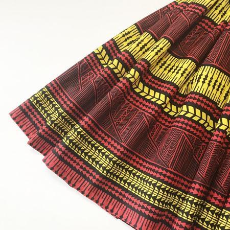 パウスカート 67cm 72cm 77cm ウエスト無地 タパ柄 〈 ブラック レッド イエロー 〉 送料無料 ハワイアン フラダンス 日本製 母の日 プレゼント|atelier-ayumi|02