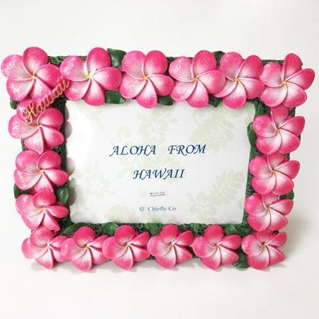 プルメリア フォトフレーム ピンク ハワイアン雑貨 写真立て 結婚式 ハワイアンウエディングに 卒業式などの思い出作りに 南国 トロピカル 芳香剤 atelier-ayumi 02