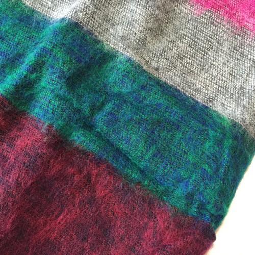 大判 カラフル ボーダー ストール〈 パープル / グリーン / ブルー 〉 エスニック 大判ストール アクリル100% 送料無料 ネパール 起毛ショール|atelier-ayumi|04