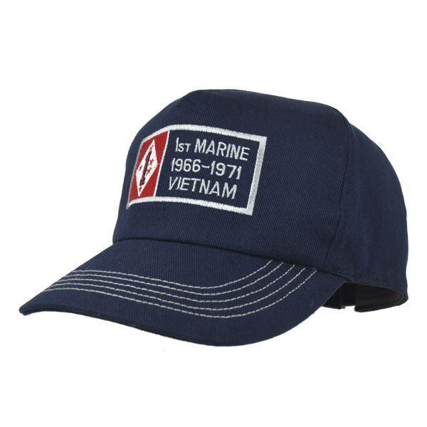 帽子 キャップ ベースボールキャップ【1st MARINE-V】 どら猫オリジナルB-CAP|atelier-doraneko