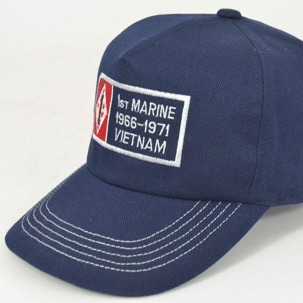 帽子 キャップ ベースボールキャップ【1st MARINE-V】 どら猫オリジナルB-CAP|atelier-doraneko|06