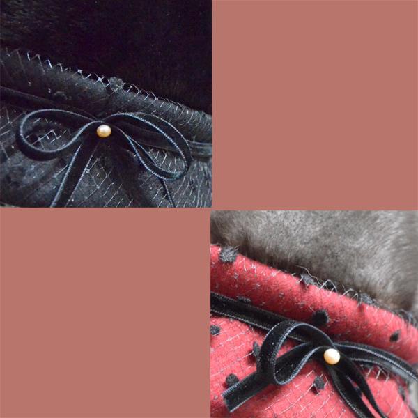 帽子 毛皮の帽子 ブリムチュール使いのミンククロッシェ 手作り日本製|atelier-doraneko|03