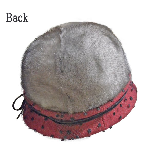 帽子 毛皮の帽子 ブリムチュール使いのミンククロッシェ 手作り日本製|atelier-doraneko|04