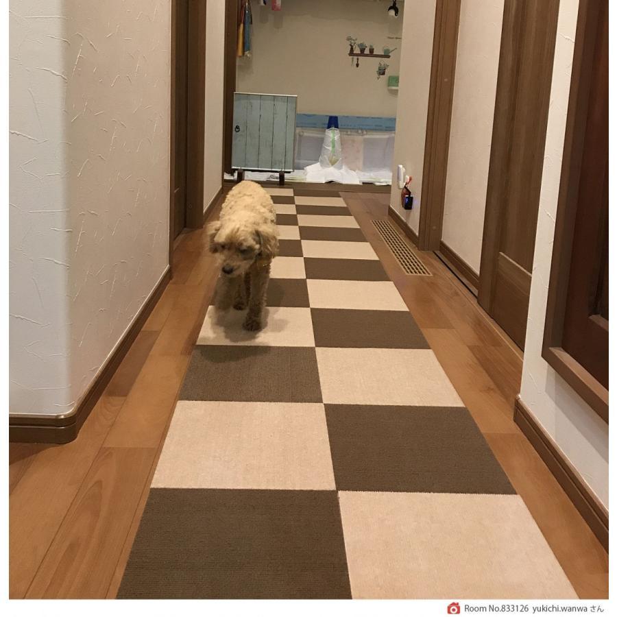 ペットマット おくだけ吸着 撥水タイルマット 1枚 30x30cm 厚み約4m 犬 フローリング 滑り止め  保護マット 日本製 送料無料 atelier-eirene 19