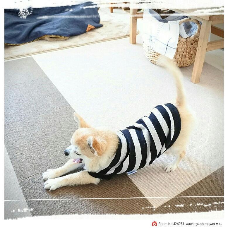 ペットマット おくだけ吸着 撥水タイルマット 1枚 30x30cm 厚み約4m 犬 フローリング 滑り止め  保護マット 日本製 送料無料 atelier-eirene 20