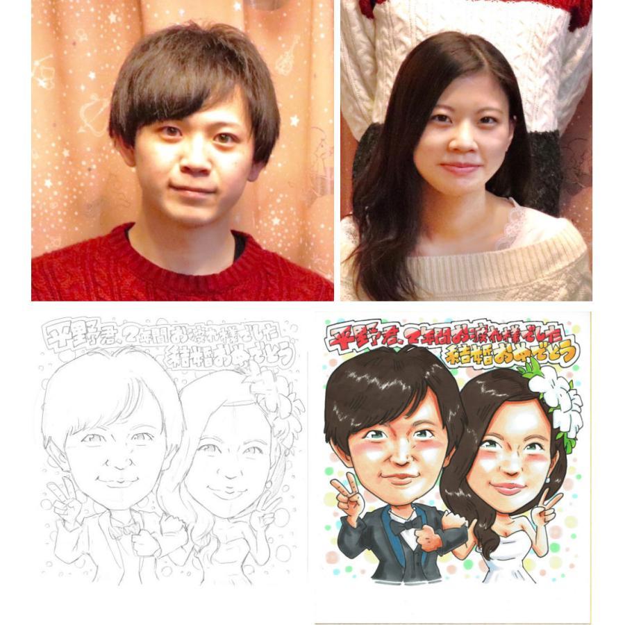 家族記念 誕生日プレゼント似顔絵  色紙サイズ ラッピング無料 atelierhiro 07