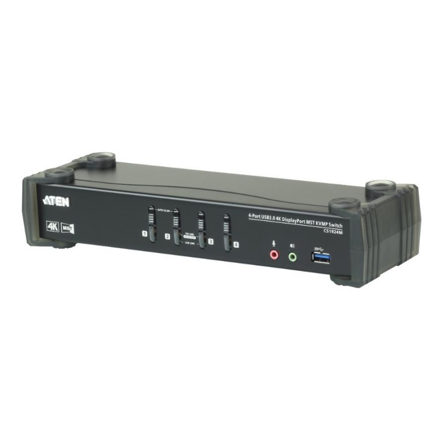 ATEN CS1924M USB 3.0ハブ搭載 DCI 4K対応 4ポートUSB DisplayPort MST KVMPスイッチ