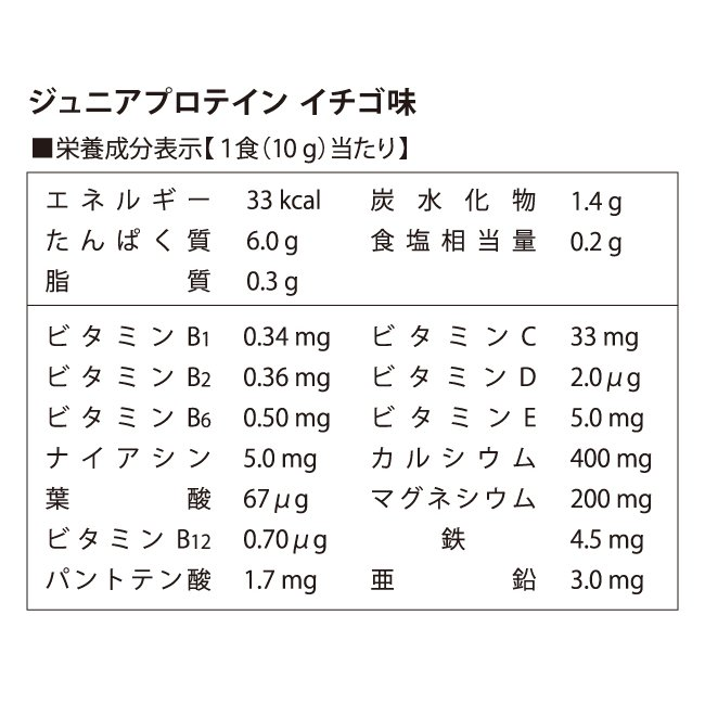 ジュニアプロテイン 子供用 ソイプロテイン 人工甘味料無添加 こども 亜鉛 身長 大豆 アストリション イチゴ味 60食分|athtrition|19