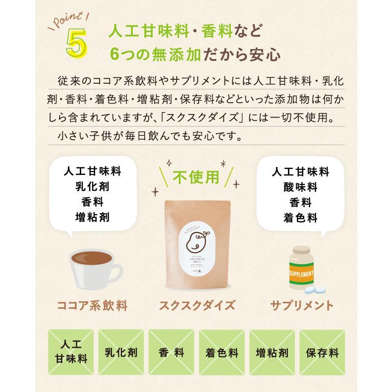 スクスクダイズ きなこ味 亜鉛 鉄分 カルシウム サプリ サプリメント 子供用 無添加 国産 アストリション 約30食分|athtrition|16