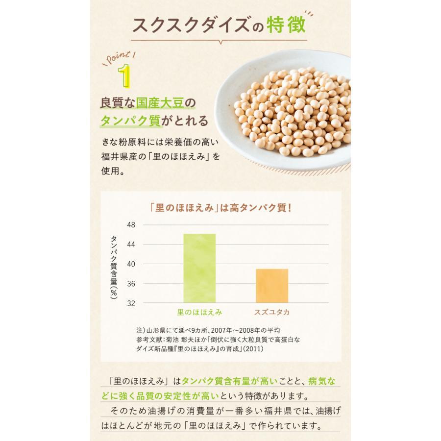 スクスクダイズ きなこ味 亜鉛 鉄分 カルシウム サプリ サプリメント 子供用 無添加 国産 アストリション 約30食分|athtrition|10