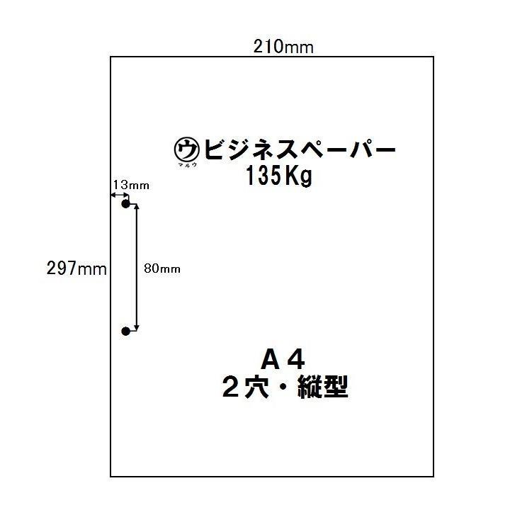 マルウ ビジネスペーパー 135Kg A4 250枚入り 2穴 30穴 上質紙/印刷用紙/レーザー/コピー/インクジェット対応|atiku-h|04