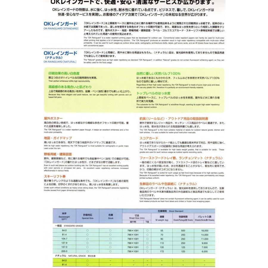 【メール便送料無料】OKレインガード70kg A4 250枚入り 耐水紙/はっ水/防水/レーザープリンター/コピー対応/筆記OK atiku-h 02