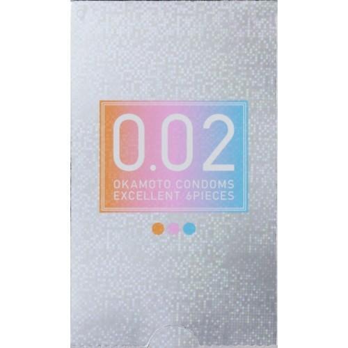 コンドーム オカモト 002 ゼロゼロツー エクセレント カラー3色 6個入り 薄さ均一 002EX ピンク·ブルー·オレンジ 各2個入り