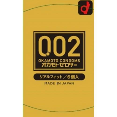 コンドーム オカモト ゼロツー リアルフィット 6個×144個セット/4547691775948 【まとめ買い特価!】