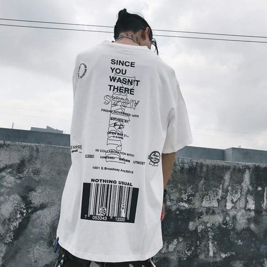 バーコードプリント ビッグTシャツ / メンズ 韓国ファッション ストリート ビッグトップス|atmarvelous|11