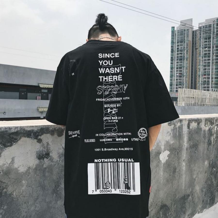 バーコードプリント ビッグTシャツ / メンズ 韓国ファッション ストリート ビッグトップス|atmarvelous|07
