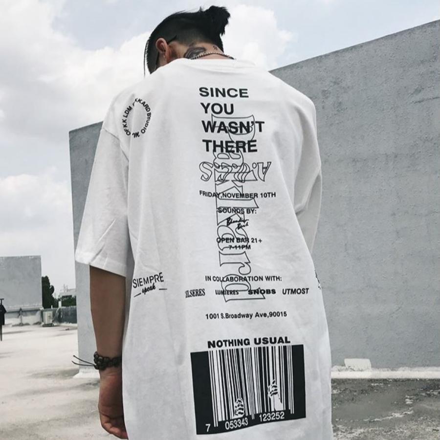 バーコードプリント ビッグTシャツ / メンズ 韓国ファッション ストリート ビッグトップス|atmarvelous|09